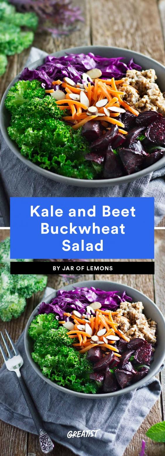 Kale and Beet Buckwheat Salad