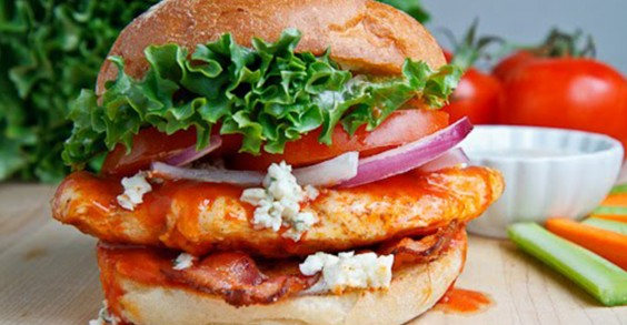 21. Buffalo Chicken Club Sandwiches