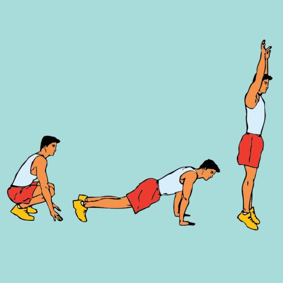Тренировка Табата. Упражнение на все тело