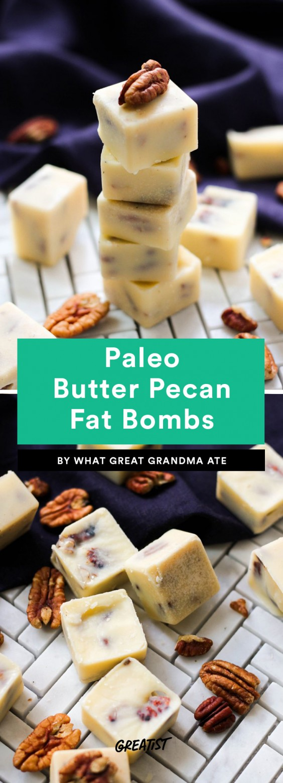 Paleo Butter Pecan Fat Bombs