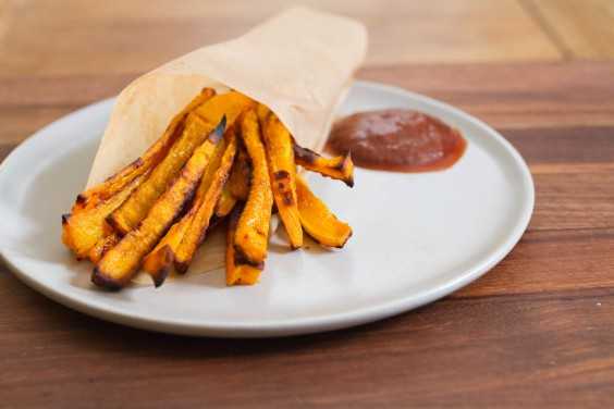 Baked Butternut Squash Fries Recipe | Greatist