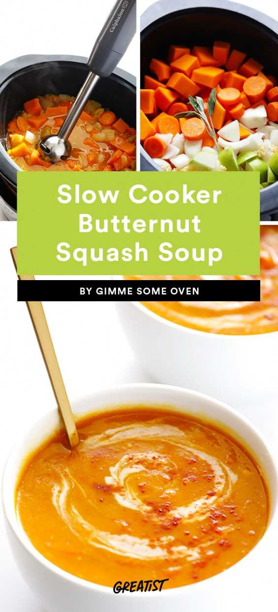 Slow Cooker Butternut Squash Soup Recipe
