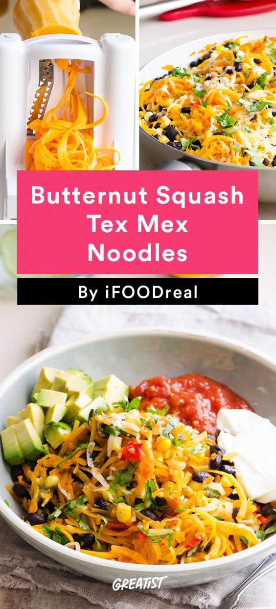 Butternut Squash Noodles Tex Mex Style