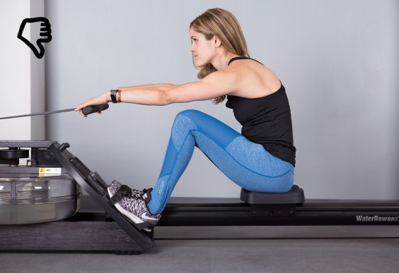 Rowing Mistakes - Hunched Back