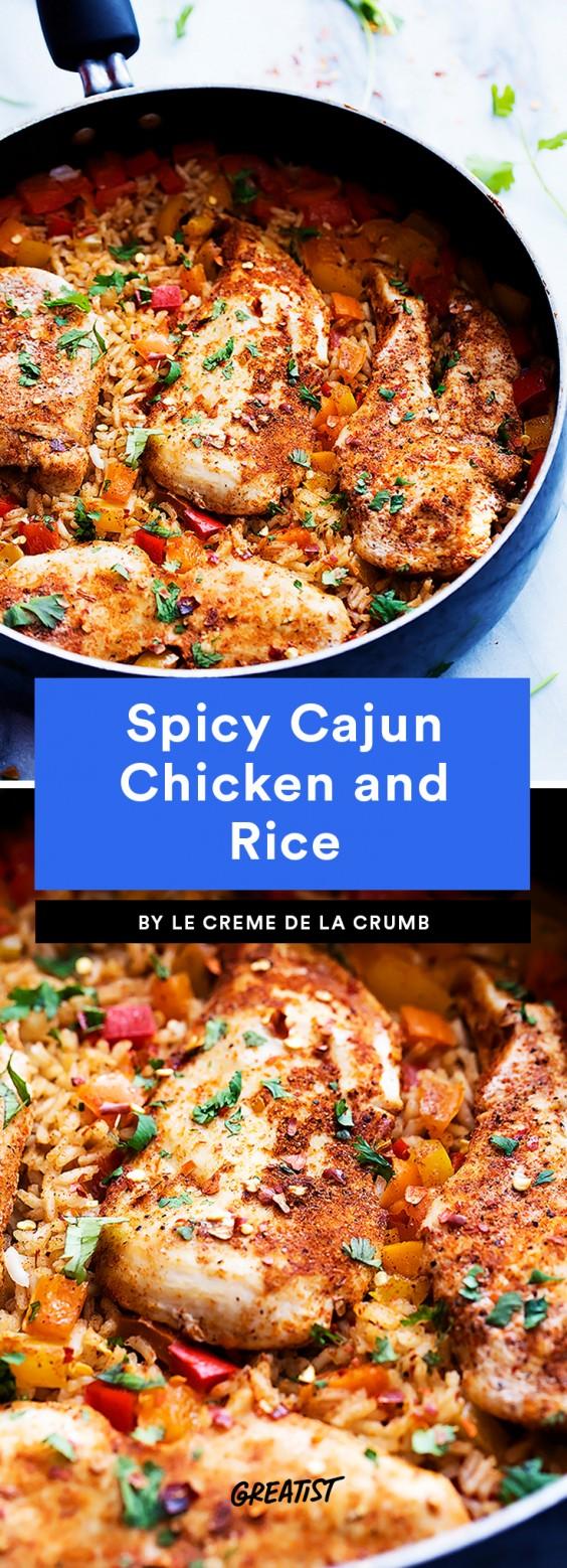 Spicy Cajun Chicken and Rice Recipe