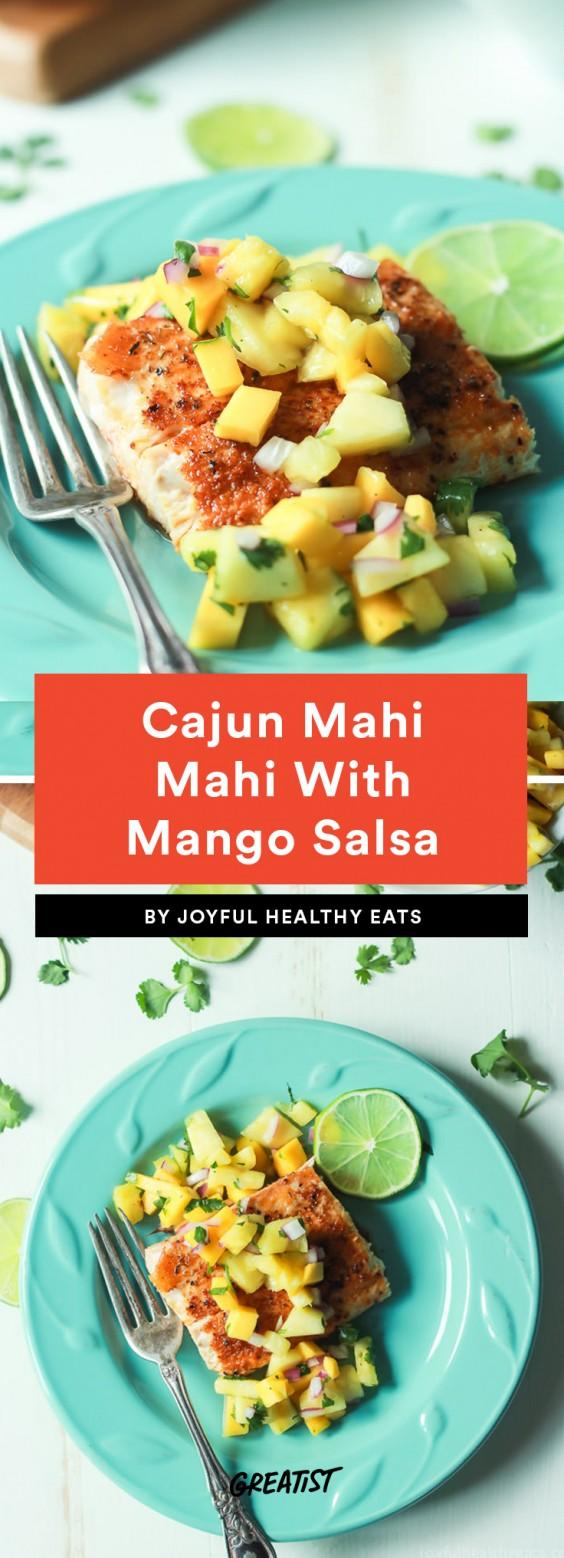 Cajun Mahi Mahi With Mango Salsa