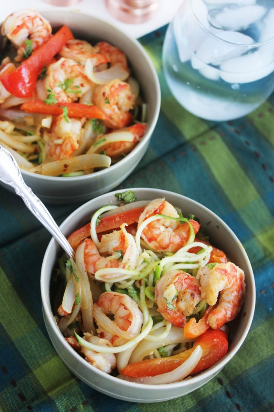Cajun Garlic Shrimp Noodle Bowl