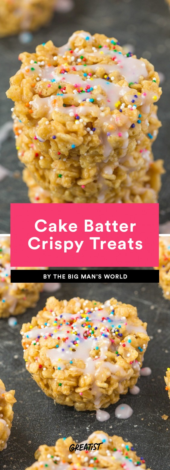 Cake Batter Rice Crispy Treats Recipe