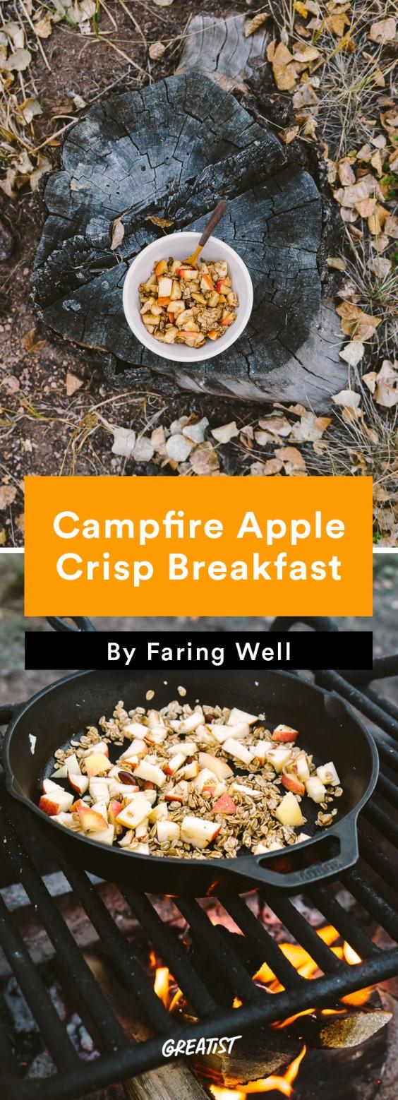 faring well: Campfire Apple Crisp Breakfast
