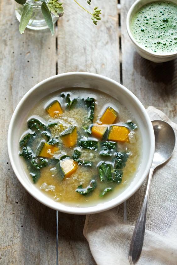 Kabocha Squash Soup and Quinoa