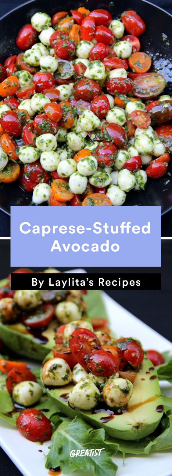 Stuffed Avocados: Caprese