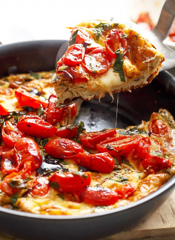 Low-Carb Breakfasts: Caprese Frittata