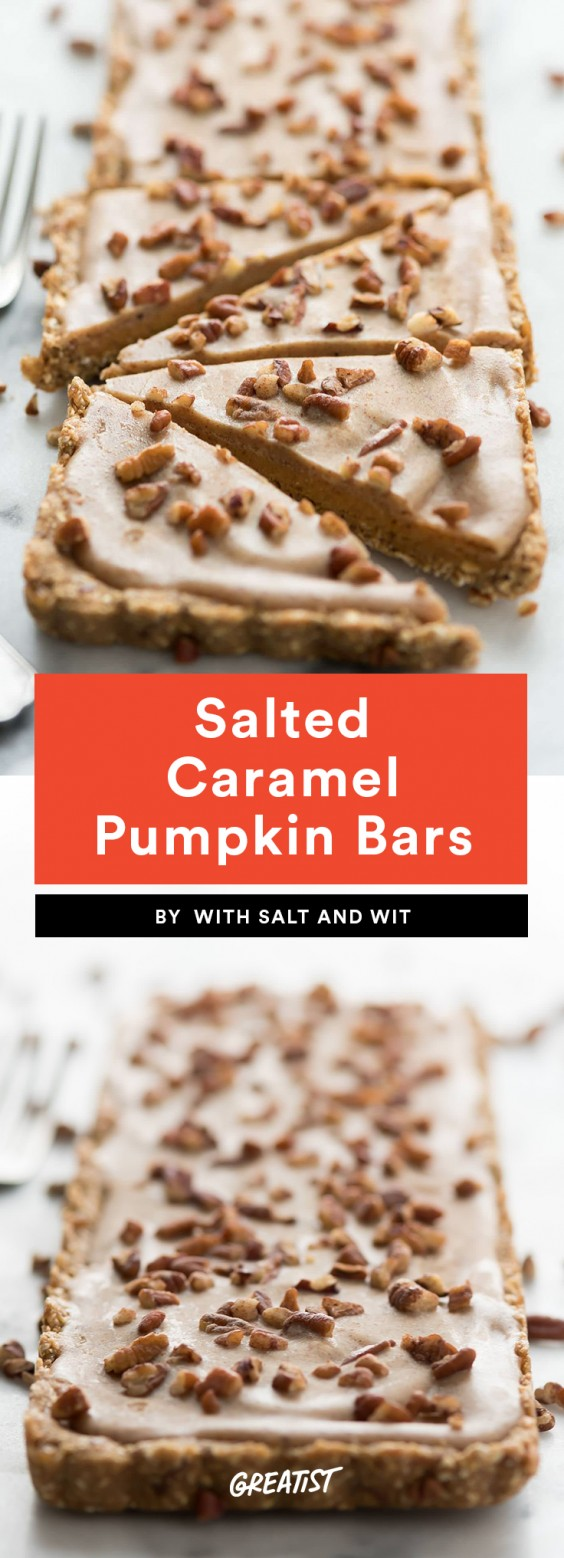 Salted Caramel Pumpkin Bars