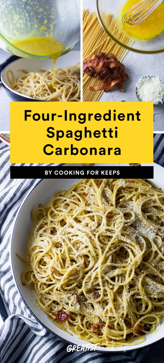 Four-Ingredient Spaghetti Carbonara Recipe
