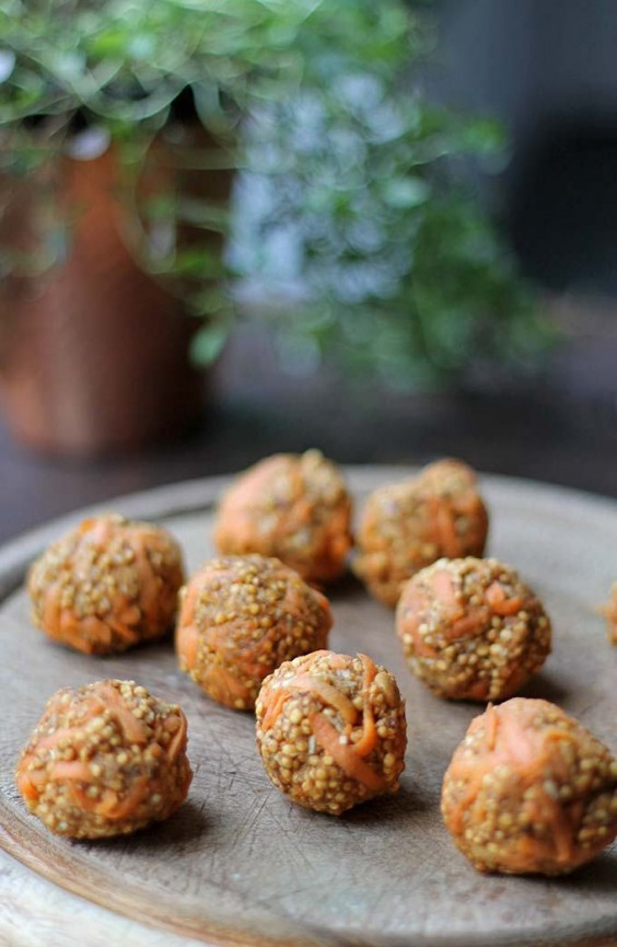 Veg Desserts: Carrot Cake Quinoa Truffles
