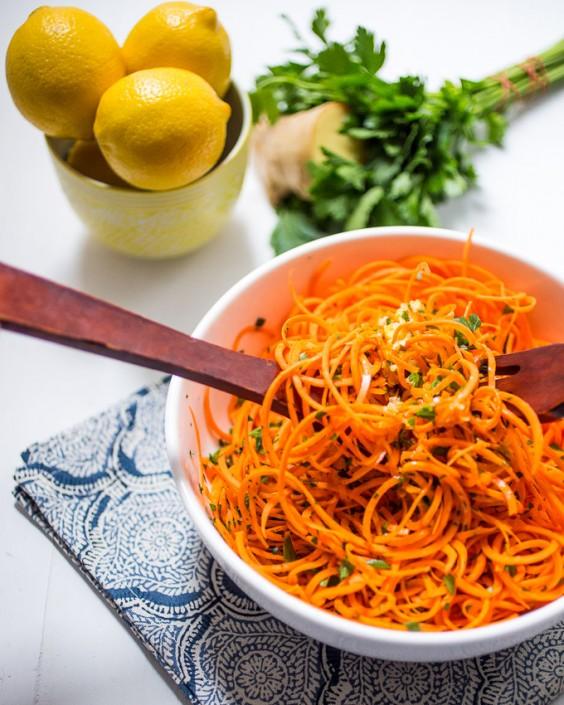 Picnic: Spiralized Carrot Salad