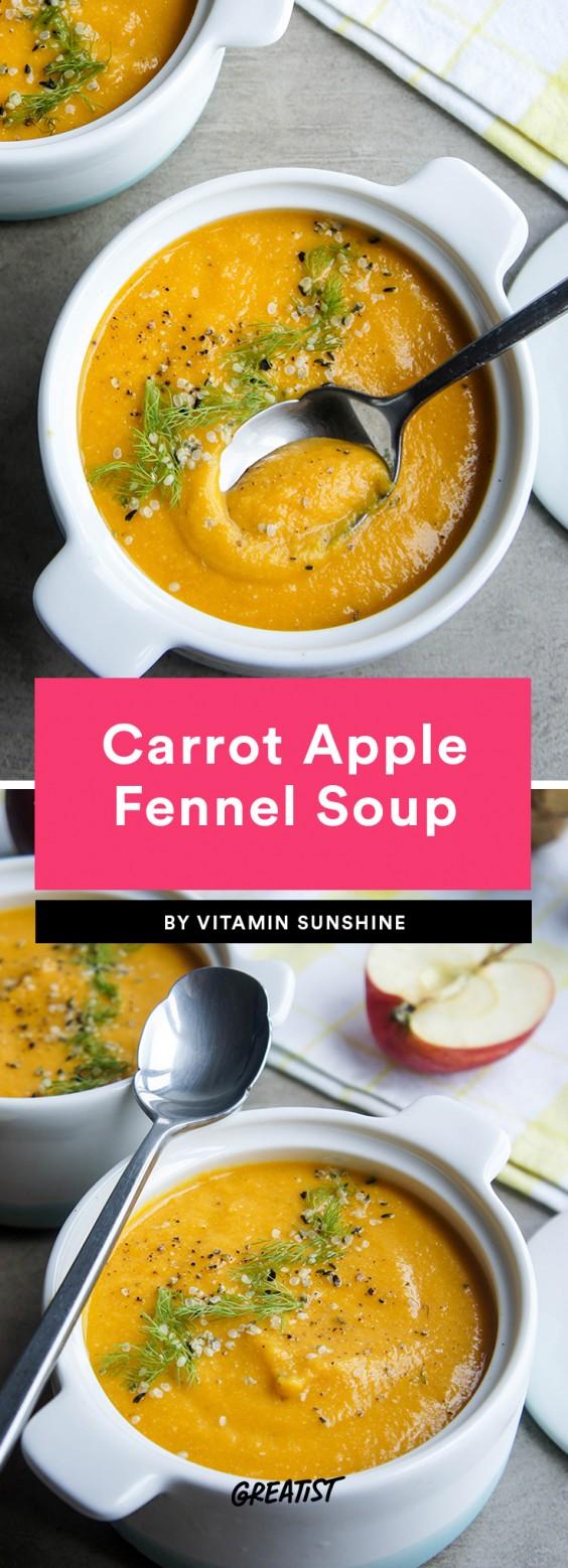 Carrot Apple Fennel Soup
