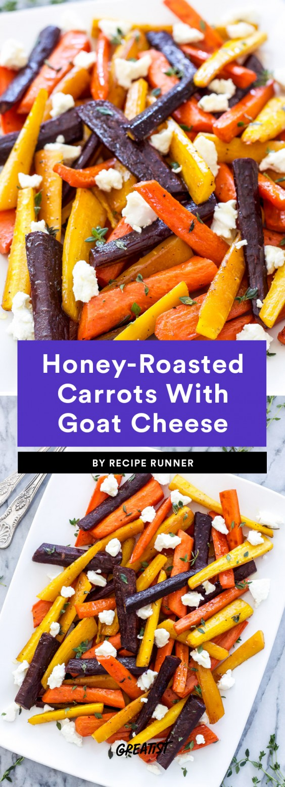 Honey-Roasted Carrots With Goat Cheese