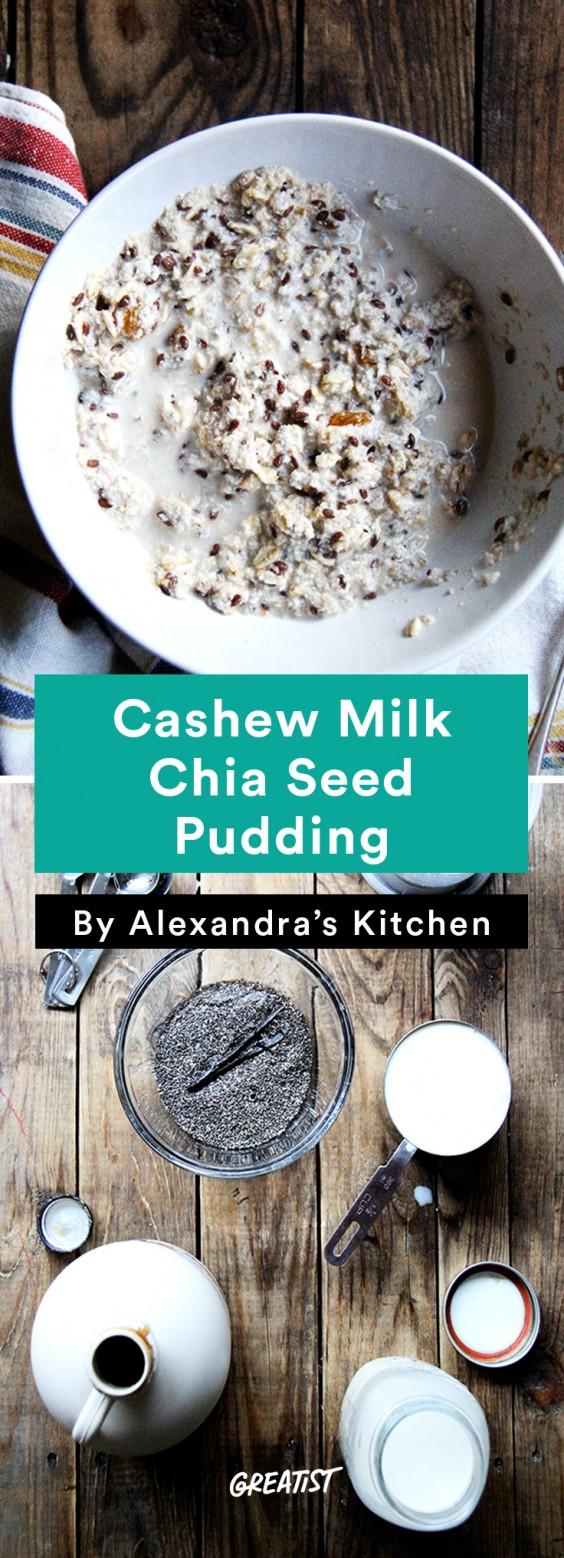 Cashew Milk roundup: Cashew Milk Chia Pudding