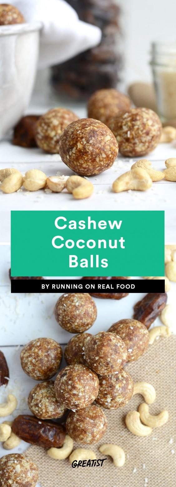 Cashew Coconut Balls
