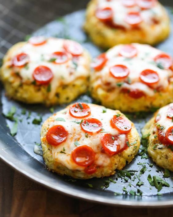 12 Mini Cauliflower Pizzas