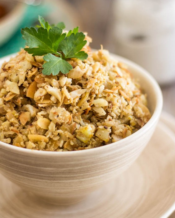 Almond Coconut Cauliflower Rice