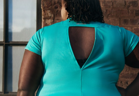 Plus Size Workout Clothes: Open Back Shirt