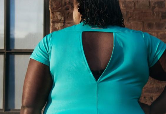 Plus Size Workout Clothes: Open Back Shirt