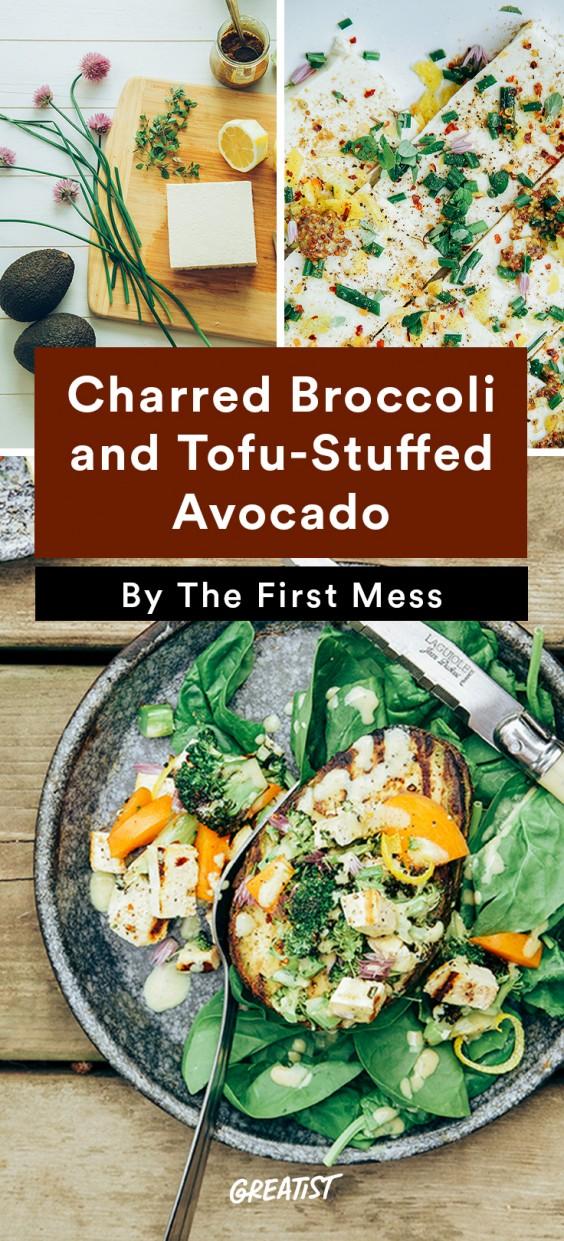 Stuffed Avocado: Charred Broccoli and Tofu