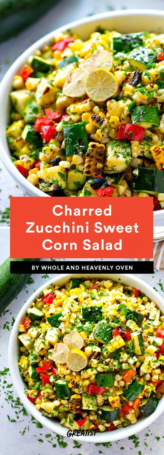 Charred Zucchini Sweet Corn Salad Recipe