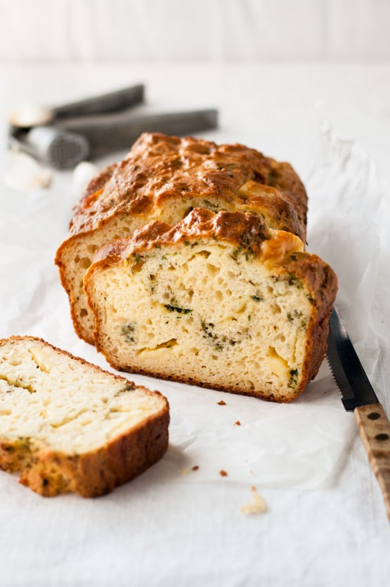13. Cheese, Garlic, and Herb Quick Bread