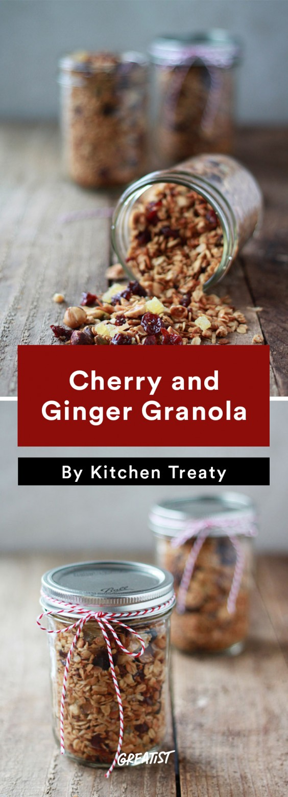 edible gifts: Cherry and Ginger Granola