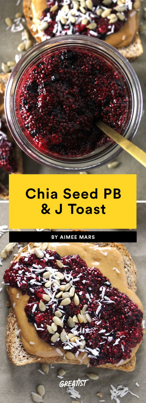Chia Seed PB&J Toast
