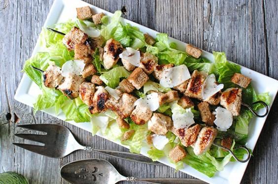 Chicken Caesar Salad Kabab