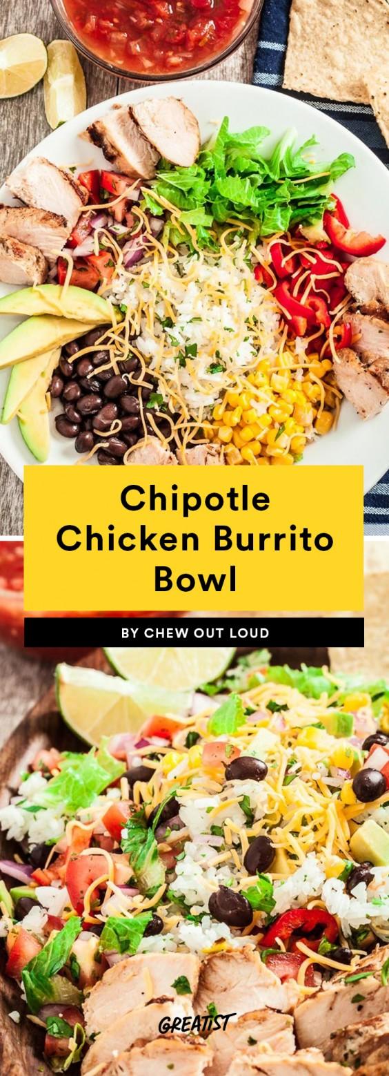 Chipotle Chicken Burrito Bowl Recipe
