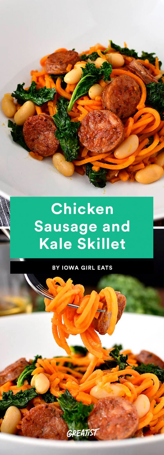 Chicken Sausage and Kale Skillet