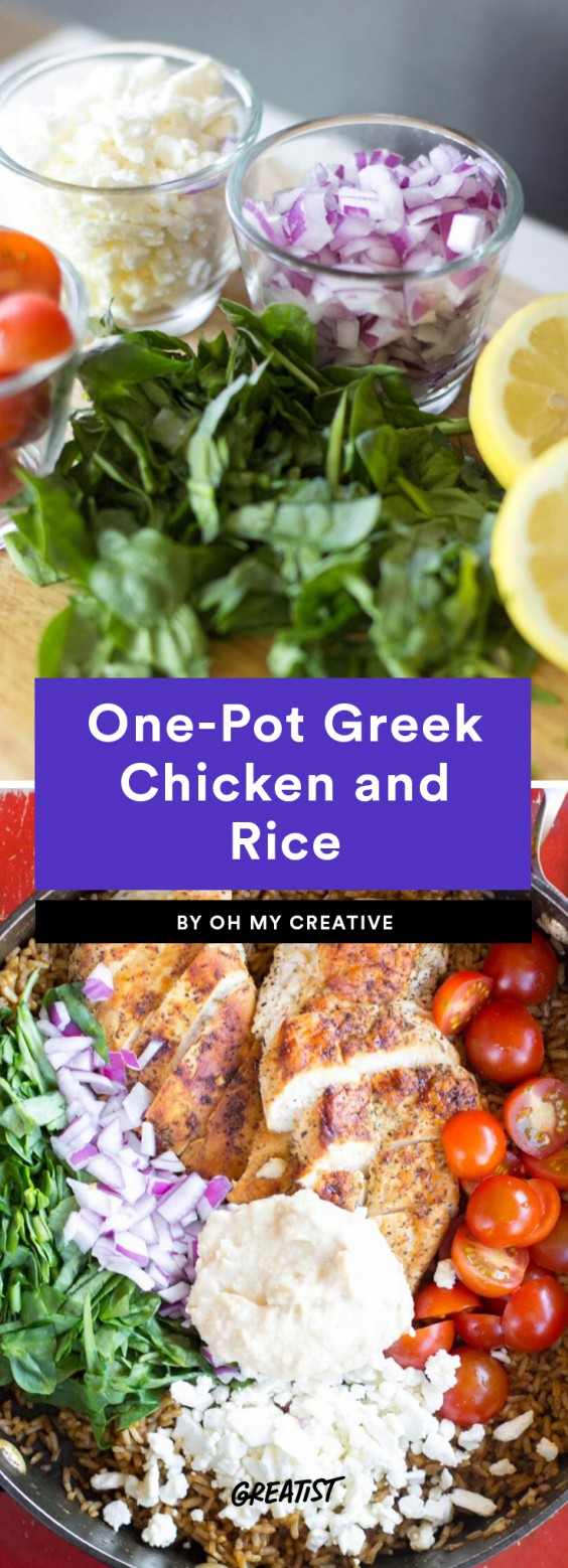 One-Pot Greek Chicken and Rice