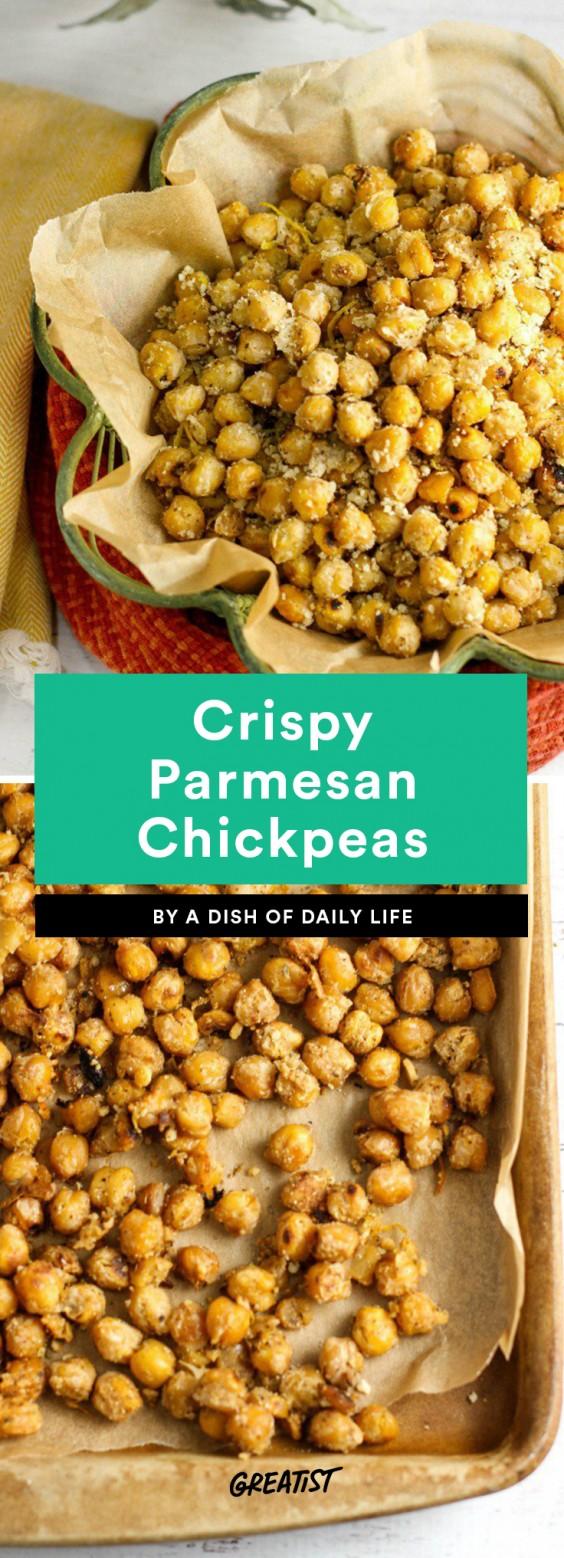 Crispy Parmesan Chickpeas Recipe
