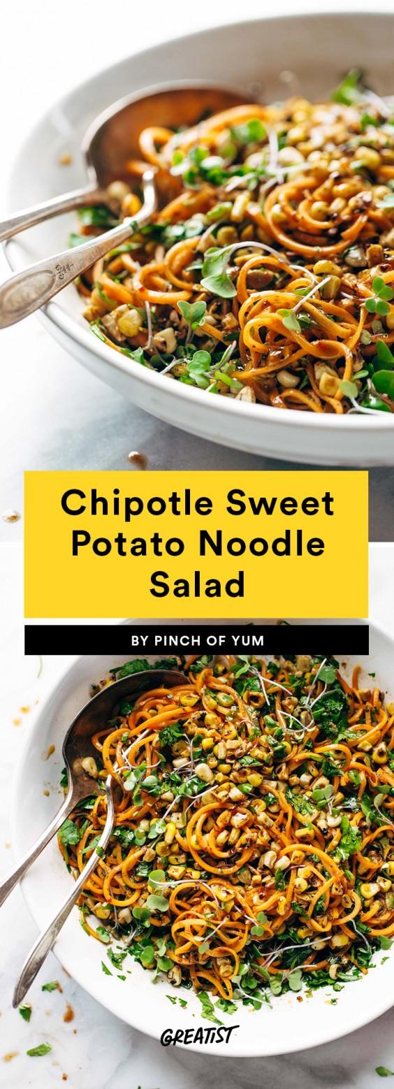 Chipotle Sweet Potato Noodle Salad