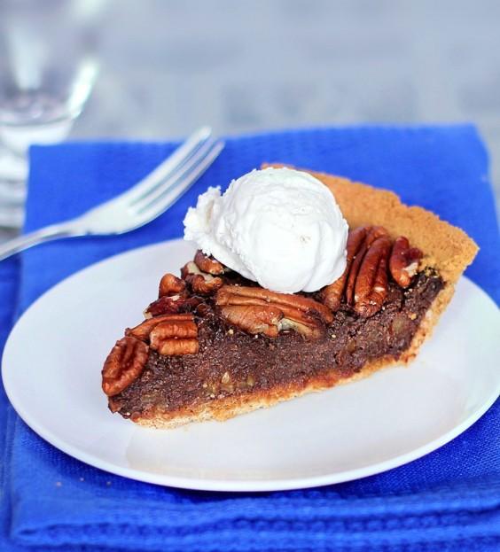 11. Healthy Chocolate Pecan Pie
