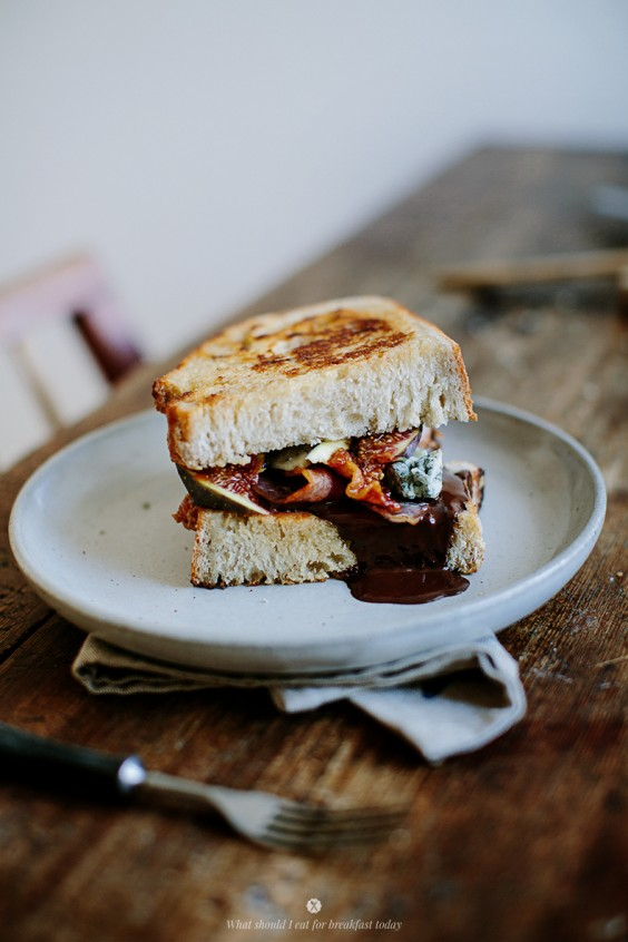 Chocolate, Fig, and Bacon Sandwich
