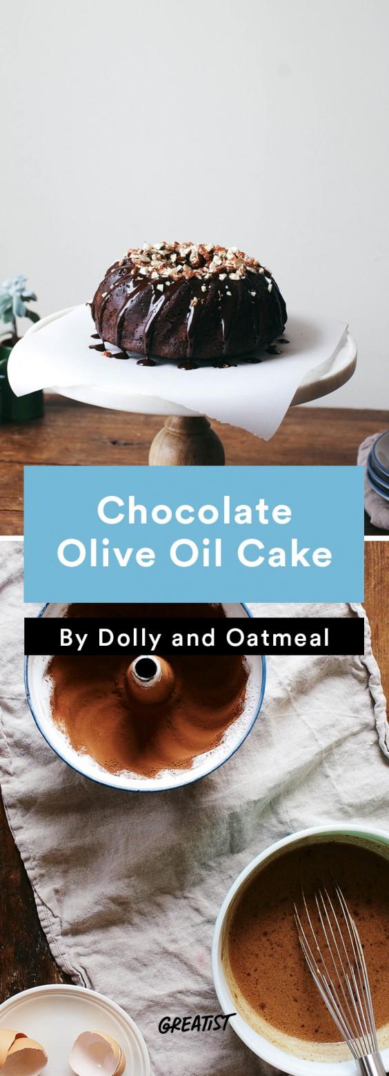 no dairy dessert: Chocolate Olive Oil Cake