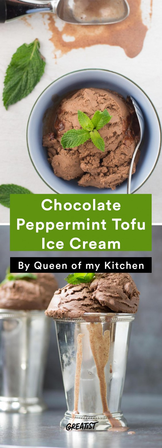 Tofu Recipes: Chocolate Peppermint Tofu Ice Cream