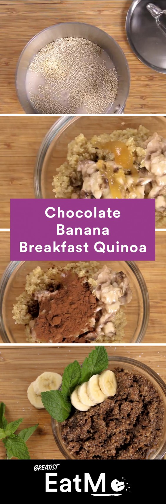 Eat Me Video: Chocolate Banana Quinoa