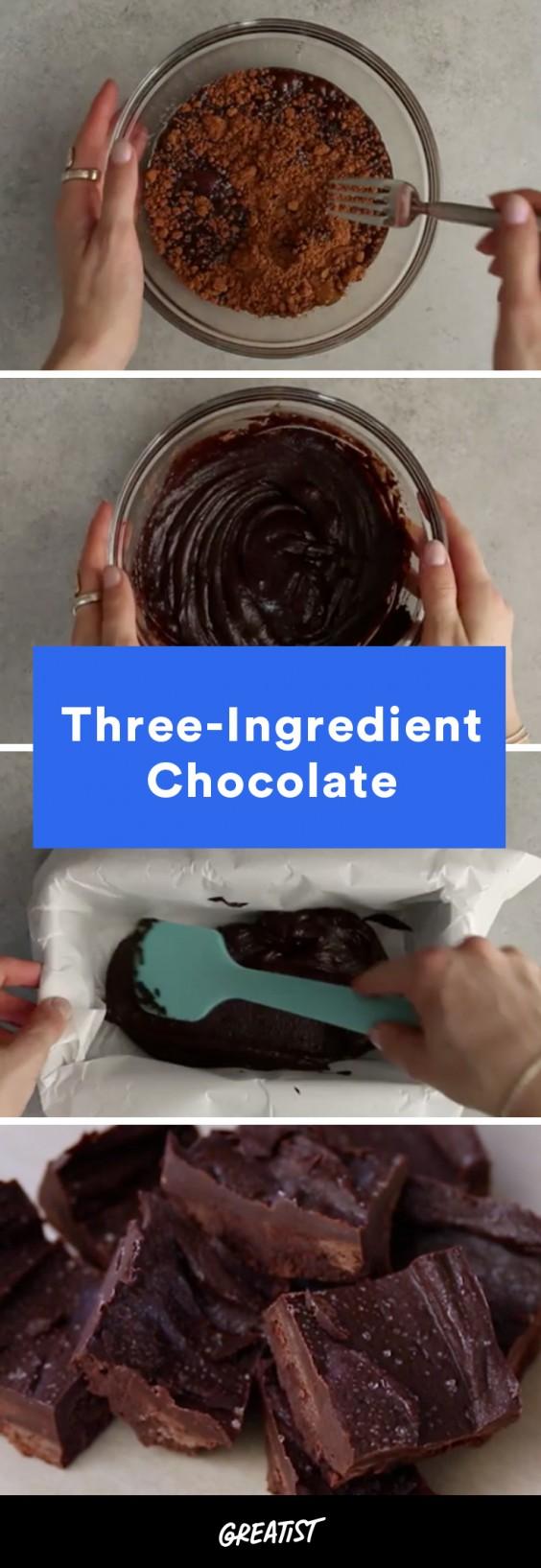 video: three ingredient chocolate