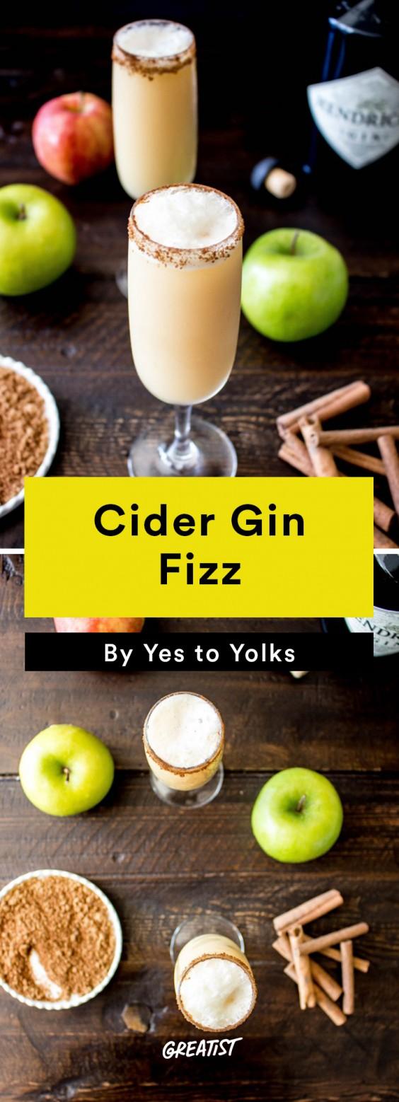 apple cocktails: Cider Gin Fizz