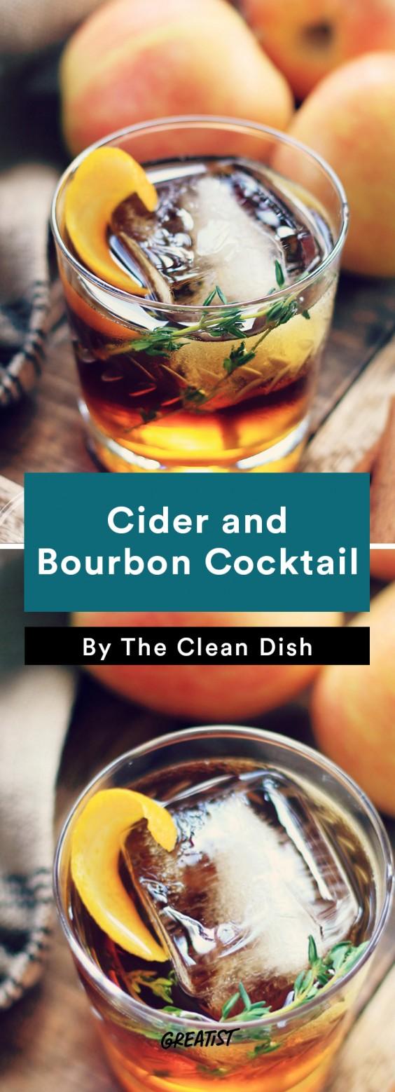 apple cocktails: Cider and Bourbon Cocktail