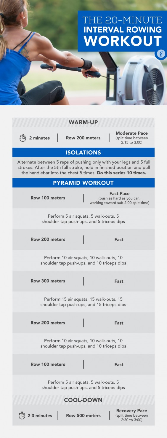 rowing machine interval workouts