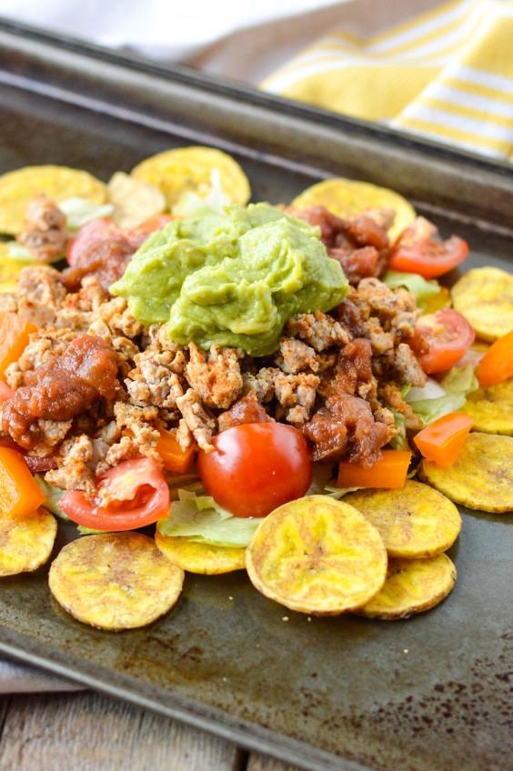Whole30 Lunches: Ground Turkey Plantain Nachos