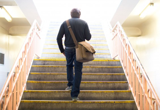 Man Climbing Stairs